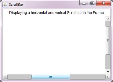 Java AWT ScrollBar - Decodejava com