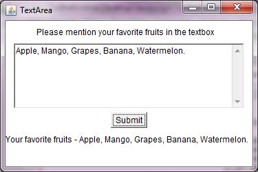 Java AWT TextArea - Decodejava com