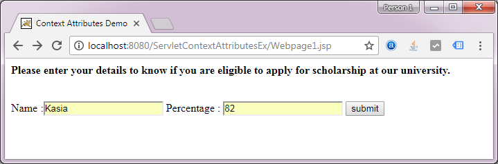 ServletContext Attributes - Decodejava com